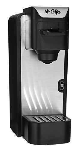 Mr. Coffee BVMC SC100 2 Single Serve Coffee Maker, Black With Silver...