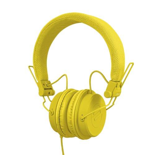 Auriculares amarillos de diadema - alta definición