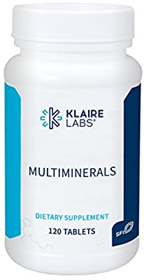 Klaire Labs Mineral-Only Complex - TRAACS Multimineral Formula, Chelated & Hypoallergenic Blend with No Iron (120 Tablets)