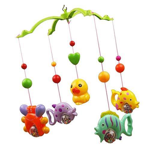 Gadpiparty Bebé Musical Cuna Juguetes Móviles Cochecito de Juguete Peces Que Cuelgan Juguetes Giratorios Colgantes Sonajero Juguetes Móvil Juguete Espiral para Bebé Infantil