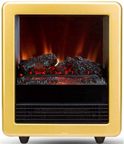 HYLH Freistehender Kamin, tragbare Elektroherd Heizung Kamin Feuer Freizeitzone Tragbar Modern mit Einstellbarer Thermostatsteuerung Realistischer Flammeneffekt und echte Protokolle zum Wohnen
