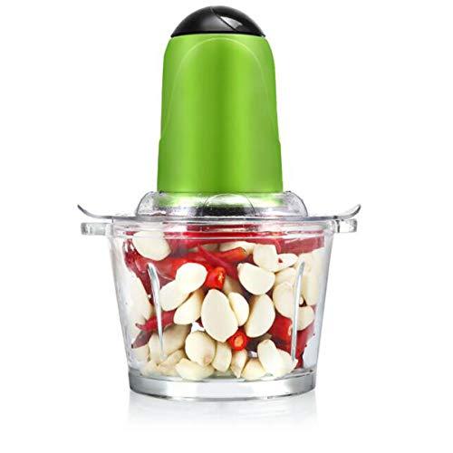 Chenjinxiangou01 Knoblauchpresse Elektrische Gewürz- und Kaffeemühle abnehmbarer Becher für trockene Nassfutter starke Edelstahlklinge rot grün schwarz gute Wirkung Schwarz