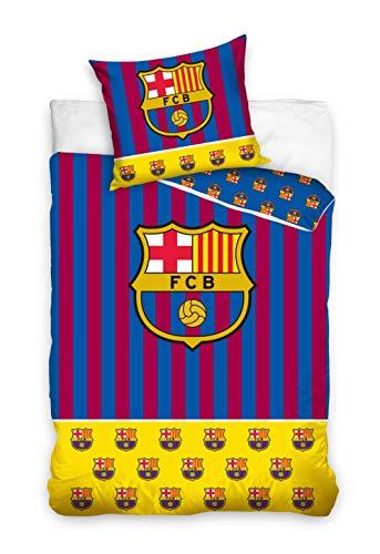 Bettwäsche Fc Barcelona 135x200 + 80x80 Messi 100% Baumwolle