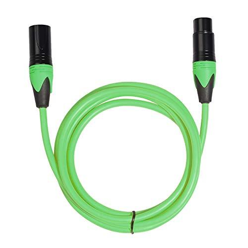 Macho a Hembra Micrófono Mezclador Cable de Audio Cable de Audio, Cable Longitud: 3m (Color : Green)