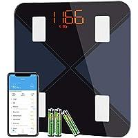 BasculadeBaño, BásculaInteligente Bluetooth Mpow BásculaGrasaCorporal Digital,13 Mediciones Esenciales: BMI, Grasa Corporal ect, IOS / Android, Compatible con Apple Health, Google Fit, Fitbit App