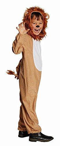 Disfraz de León Teo mono marrón de carnaval teatro depredador de gato