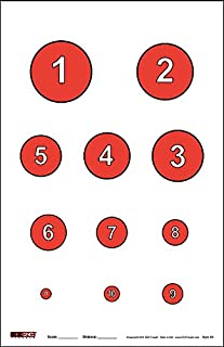 EZ2C Targets Style 20 Reducing Circles Skill Challenge (25 Pack)