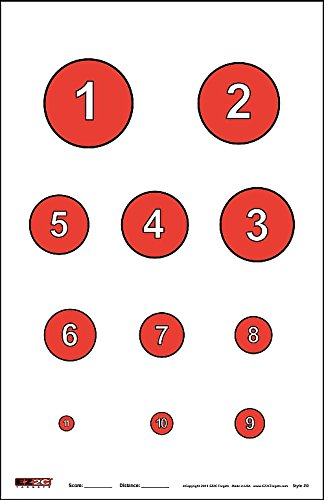 EZ2C Targets Style 20 Reducing Circles Skill Challenge 25 Pack