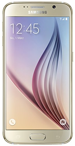 Samsung Galaxy S6 - Smartphone libre Android (pantalla 5.1', cámara 16 Mp, 32 GB, Quad-Core 2.1 GHz, 3 GB RAM), dorado [modelo español]