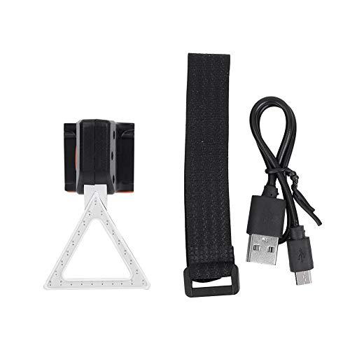 Qiter Fahrrad-Rücklicht, USB-Lade-LED-Rücklicht wasserdichte Rückleuchte Rot für Fahrrad-Mountainbike(Trigon)