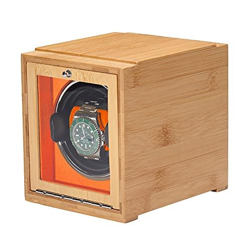 DFJU Winders Relógios Bamboo Watch Shaker Enrolador de relógio único Enrolador de relógio mecânico Caixa automática de enrolamento de energia dupla Caixa de armazenamento de relógio doméstico