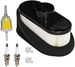 HIFROM Air Filter Pre Filter Cleaner Fuel Filter Spark Plug Tune Up Kit Compatible with John Deere X300 X304 X300R X360 X500 X530 X534 X310 Z355 Z665 4-Cycle Engine Replace MIU12555 11013-7047