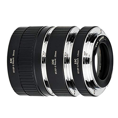 JJC AF Autofokus Zwischenringe 12/20/36MM für Canon EF/EF-S Mount EOS 850D 800D 760D 750D 700D 250D 90D 80D 77D 5DS R 5D II III IV 7D 6D DSLR-Kameras Objektiv