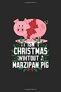 Marzipan Pig  Funny Traditional Norwegian Christmas Gift 6X9 College Line Journal