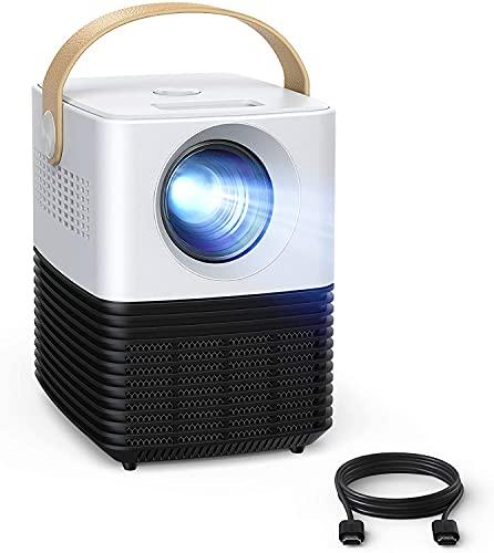 "Mini Beamer, APEMAN Native 1080P Projektor 2021 Upgrade, ±50° Elektronische Korrektur, Dual Lautsprecher, 100\"" Kurzdistanz LED Full HD Display, mit HDMI/USB/Phone/PS4/TV Stick/chromecast, Für Heimkino"