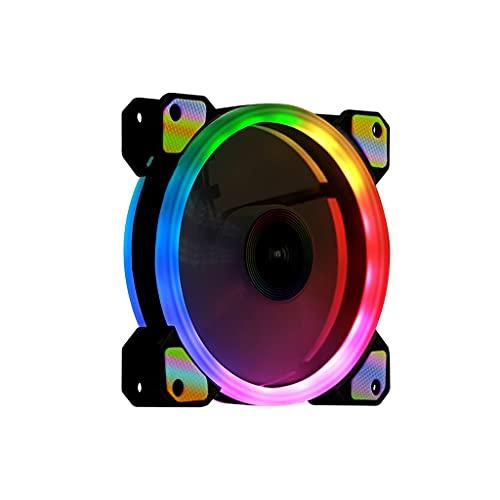 LLRZ Centilador CPU Ventilador silencioso del Ventilador de la Caja LED para Las Fundas de la computadora RGB RGB PC PC Absorbente Absorbente Radiador Ventilador Sistema Refrigeración