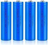 18650 Baterías Recargables 3.7 V ICR 2600 MAH Li-Ion Baterías de Alta Capacidad Lámpara Portátil Batería de Repuesto 1200 Ciclos de Larga Vida-Lote de 4 Botones