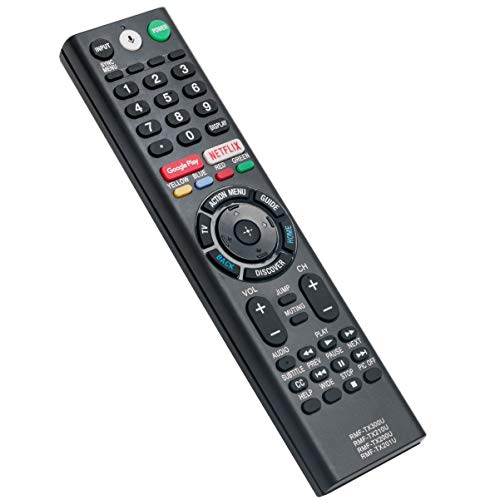 Voice Remote Control Replacement fit for Sony Smart TV XBR-49X700D XBR-55X700D XBR-65X750D XBR65X850E XBR75X850E XBR49X800E XBR55X800E XBR55X806E XBR55A1E XBR65A1E XBR43X800E XBR-49X800E XBR-55X800E