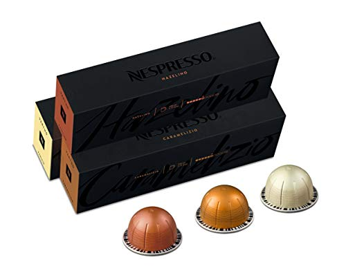 Nespresso Capsules VertuoLine, Flavored Variety Pack, Medium Roast Coffee, 30 Count Coffee Pods, Brews 7.8 oz