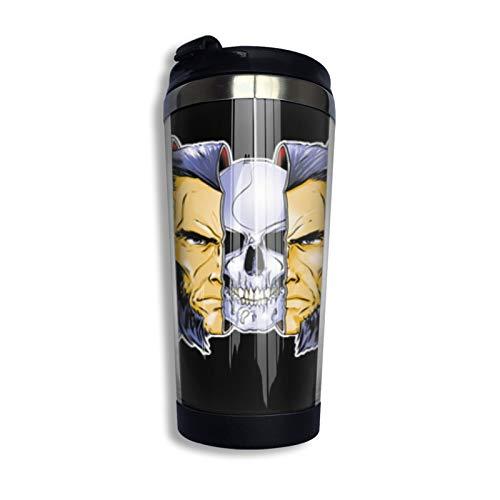 Xmen Berserker WOL-Verine Taza de café de acero inoxidable taza de viaje botella de agua para mantener caliente o frío 400 ml