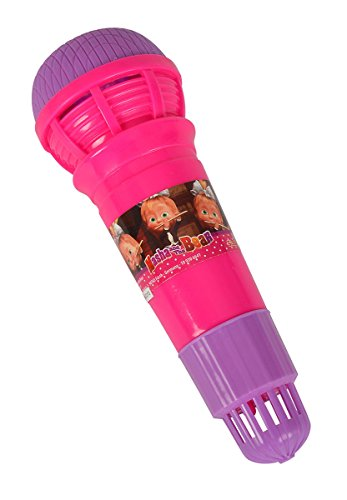 Simba 109306641 - Mascha und der Bär Echomikrofon 24 cm, 2-sort.