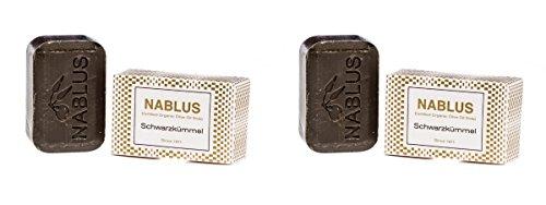 2er Set - Nablus Soap, Sorte: Schwarzkümmel, handgemacht und palmölfrei, 2x100g