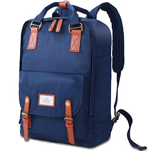 Rucksack Damen & Herren Groß Dunkleblau,ONKING Premium Langlebiger Herren Damen Tagesrucksack mit Anti Diebstahl Tasche Reisen Daypack Wasserdicht Schulrucksack für 13\'\'-17\'\' Laptops