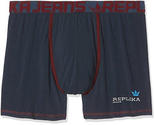 Replika jeans Herren 99794 Boxershorts, Blau (Navy Blue 0580), XXXXXX-Large (Herstellergröße: US-5XL)