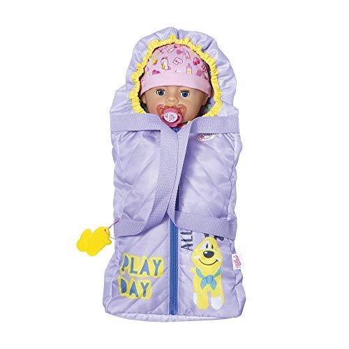 Zapf Creation 828014 BABY born Baby Care Schlaf- und Tragetasche mit 2-in-1-Funktion, Puppenzubehör 43 cm