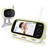 aidios M1 Video Baby Monitor with Camera and Audio, 4.3' Display, Pan-tilt Upgradeable, VOX, Auto Mute, Night Vision, 2-Way-Talk, Picture-in-Picture