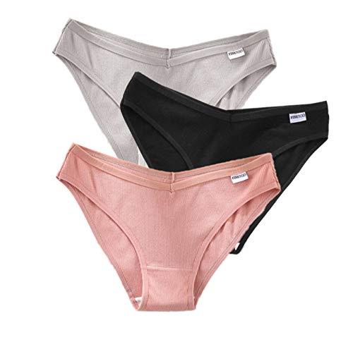 Bwer Ropa Interior para Mujer, Ropa Interior Sexy, Material de algodón,...
