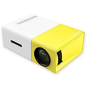Proyector de video, HD 1080P 3200 lúmenes Mini proyector portátil ...