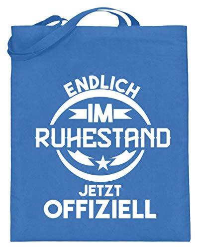 Endlich Im Ruhestand - Jetzt Ofell - Divertida frase de diseño de jubilación (con asas largas), color Azul, talla 38cm-42cm
