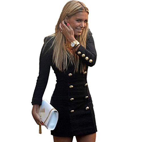 Abito Donna Elegante Vestito da Lavoro Donne Kword Vestito Affari Ufficio Blazer Casual Dress Doppio Petto Windbreaker OL Vestito Office Vestiti Tailleur Slim Fit Abiti dalla Matita Autunno Invernale