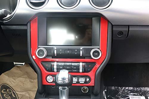 ABS Voiture Radio Tableau de Bord GPS Cadre Panneau Couverture Navigation Cadre Garniture Garniture pour Mustang 2015 2016 2017 2018 Rouge