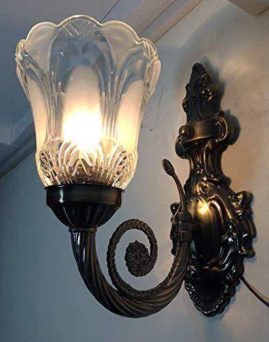 Prop it up Antique Design Brass Portuguese (Single) Style Wall Lamp (Antique Bronze)