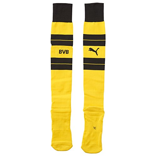 PUMA Erwachsene BVB Hooped Socks Stutzen, cyber yellow-Black, 5