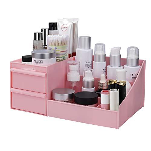 MaoXinTek Make Up Organizer mit Schubladen, Aufbewahrungsbox Kosmetika Schminke für Aufbewahrung im Bad Schlafzimmer von Lippenstift Schmuck | Kunststoff Büro Stift Halter Fall