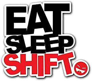 MFX Design Magnet EAT Sleep Shift - JDM Decal Sticker for Car Truck Magnet car Truck Magnetic Vinyl Sticks to Any Metal surface5.3 Inches x 4.7 Inches (13.6 cm x 11.9 cm)