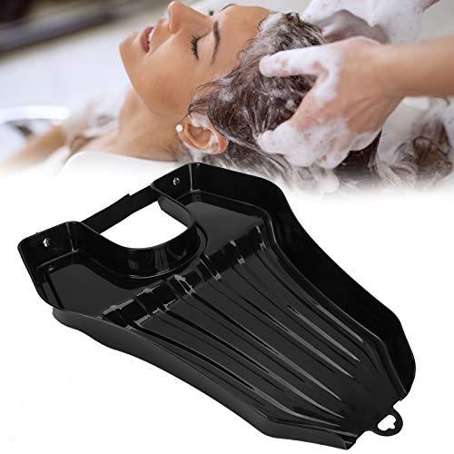Bandeja de champú Lavabo de lavado - Lavabo de champú de plástico simple y ligero para peluquería - Champú doméstico para mujeres embarazadas mayores(negro)