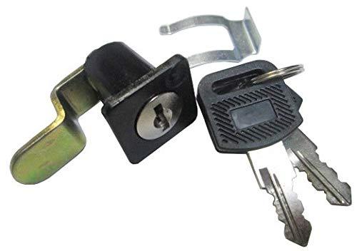 Alubox 38675 Serratura Ricambio per Cassetta Postale Marca TRIMEC Art AB Serie Si SE LI Sir DR2E FT, Nero