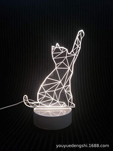 Fuente de alimentación USB (567A) de la lámpara de mesa 3D Creative Night Light Gift Tecnología de acrílico