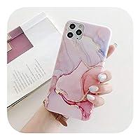 トレンディ ファッションマーブルクリスタルアゲートソフトシリコンフォンケースFor iPhone12 11 Pro XS Max XR X 6 6S 7 8 Plus SE2020マットカバーシェル-d-for iPhone 12Pro