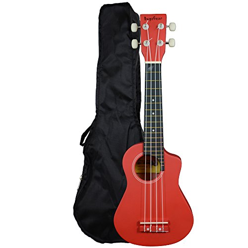 Bugs Gear SCG-UK11BK - Ukelele (con funda), color negro