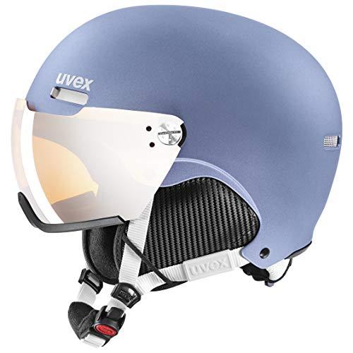 uvex Unisex– Erwachsene hlmt 500 Visor Skihelm, dust Blue mat, 52-55 cm
