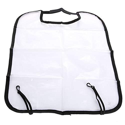 Durable 2 PCS Car Seat Back Cover Protector for enfants Kick Mat Housses de siège de voiture Tapis de voiture Automobile (Transparent) (Couleur : Transparent)