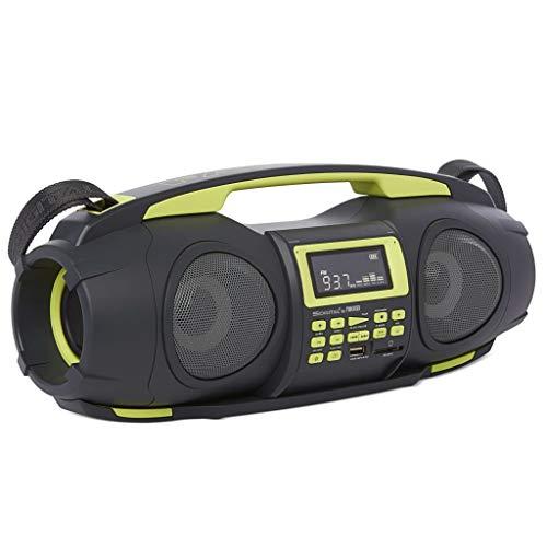 Nikkei NGB3601GN – ghettoblaster/Boombox | boomblaster | digitale CD-Audiosysteem | FM-radio | Bluetooth | USB | Schwarz/Grün