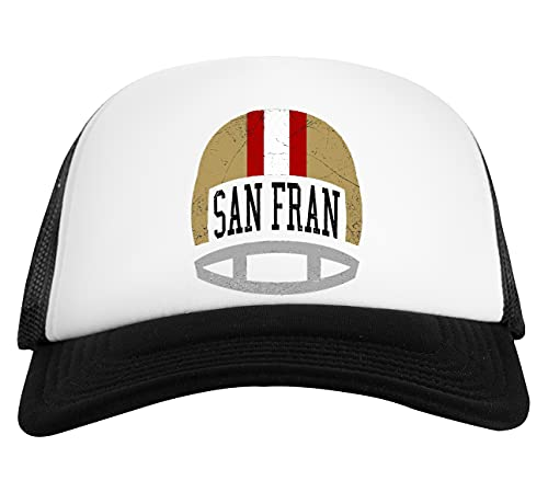 San Fran Helmet Gorra De Béisbol Unisex Blanca Negra White Black Baseball Cap Unisex