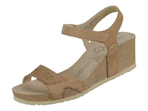 Panama Jack Damen Julia Basics Offene Sandalen mit Keilabsatz, Braun (Taupe), 41 EU