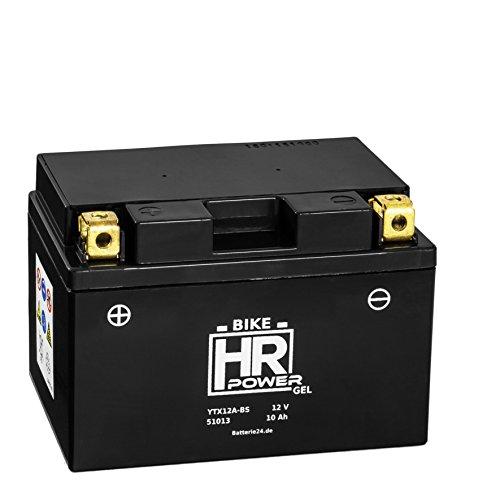Gel Motorrad Batterie Starterbatterie 12V 10Ah YTX12A-BS 51013 wartungsfrei